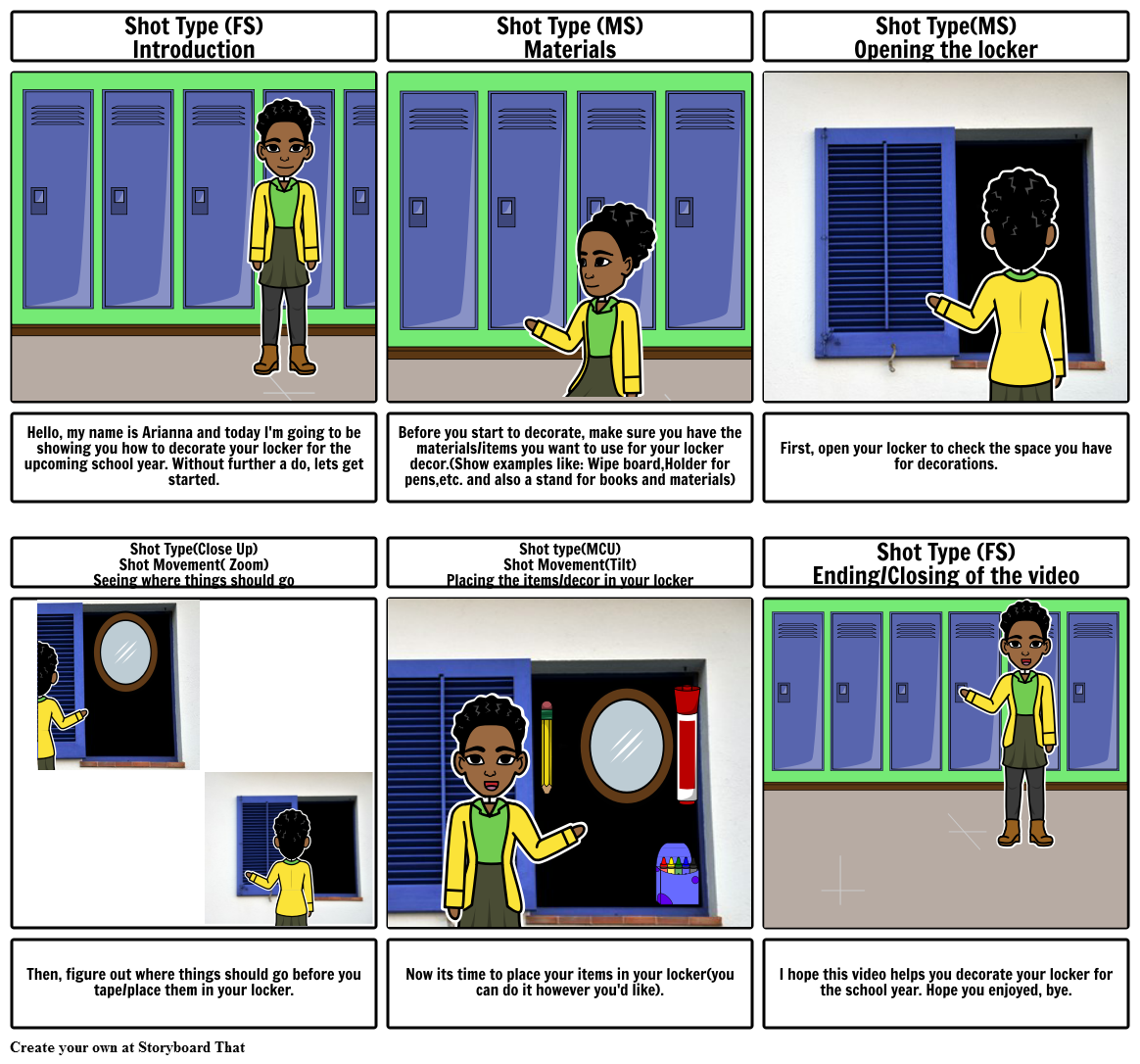 How To Decorate Your Locker Storyboard Arianna Reed