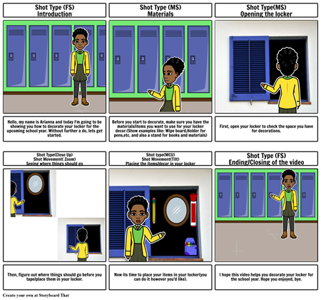 How to decorate your locker Storyboard- Arianna Reed