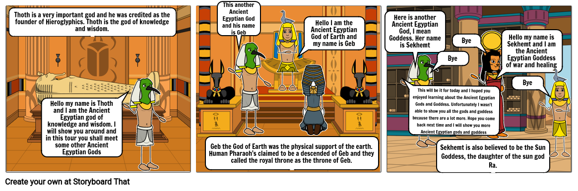 Ancient Egyptian God Storyboard