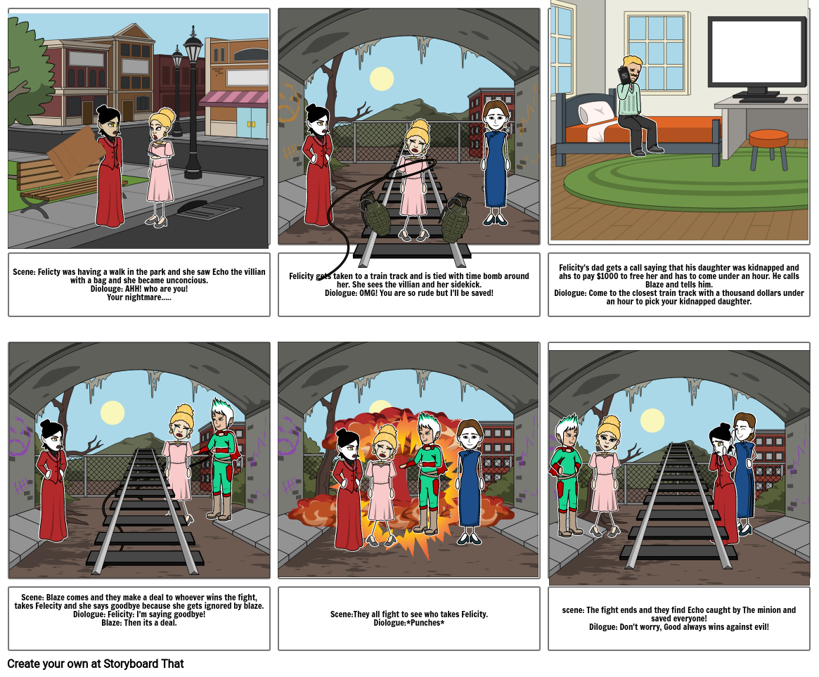 Drama/media script storyboard