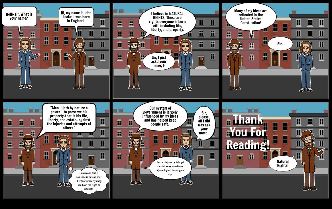 John Locke Comic