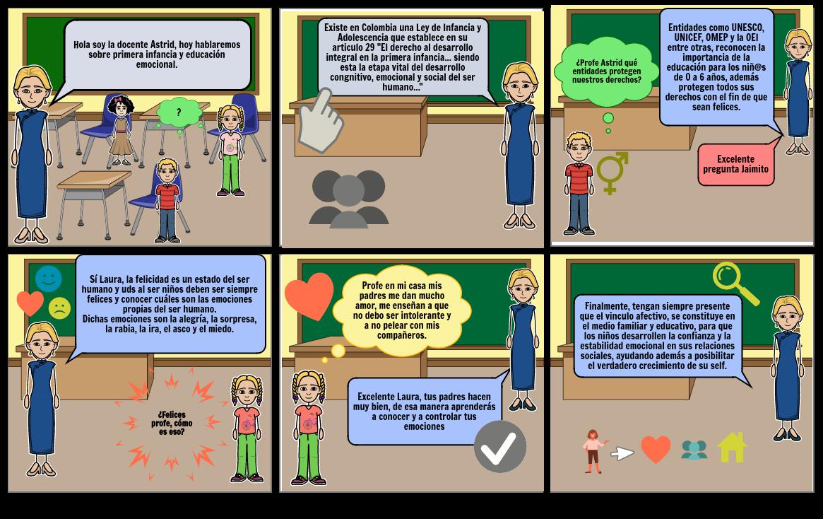COMIC PRIMERA INFANCIA Y EDUCACIÓN EMOCIONAL