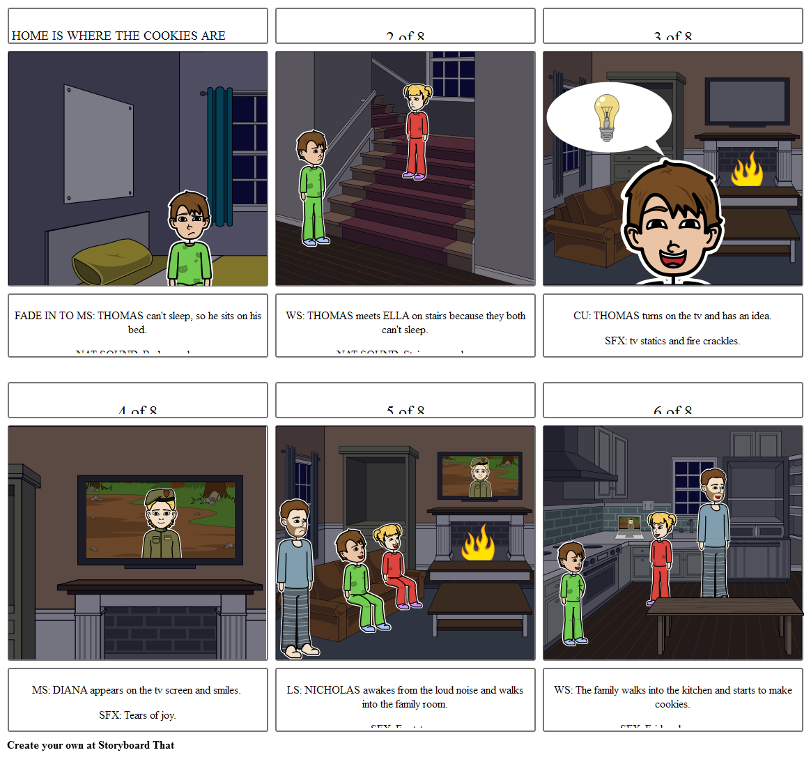 Creative Project Storyboard