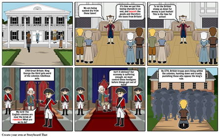 Asher Constant American Revolution Storyboard