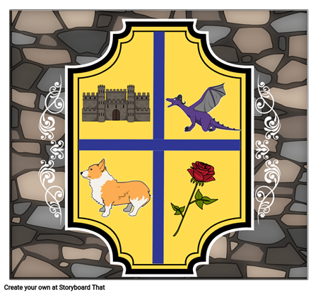 A Medieval Feast - Crest Coat of Arms