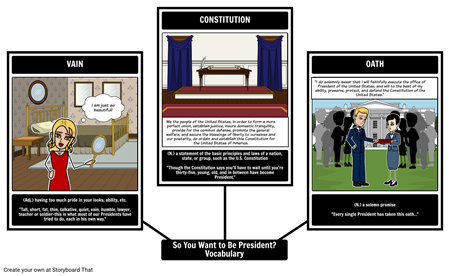 So You Want to Be President? - Vocabulary