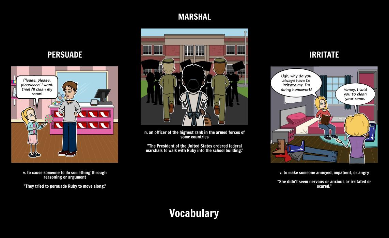 The Story of Ruby Bridges - Vocabulary