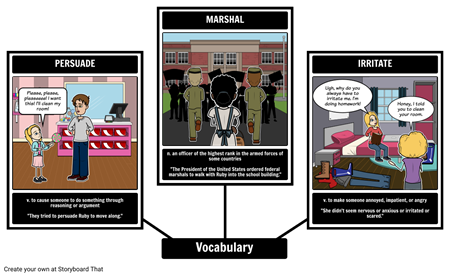 The Story of Ruby Bridges - Vocabulary