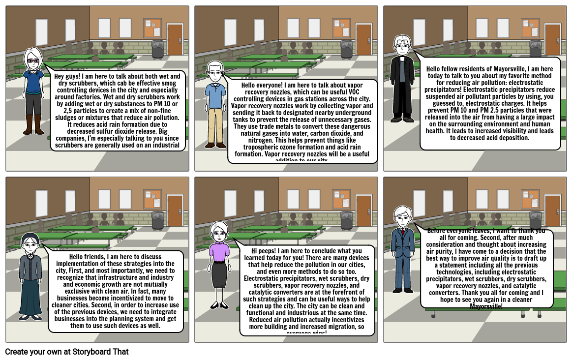 APES Pollution Solutions Storyboard Coninued