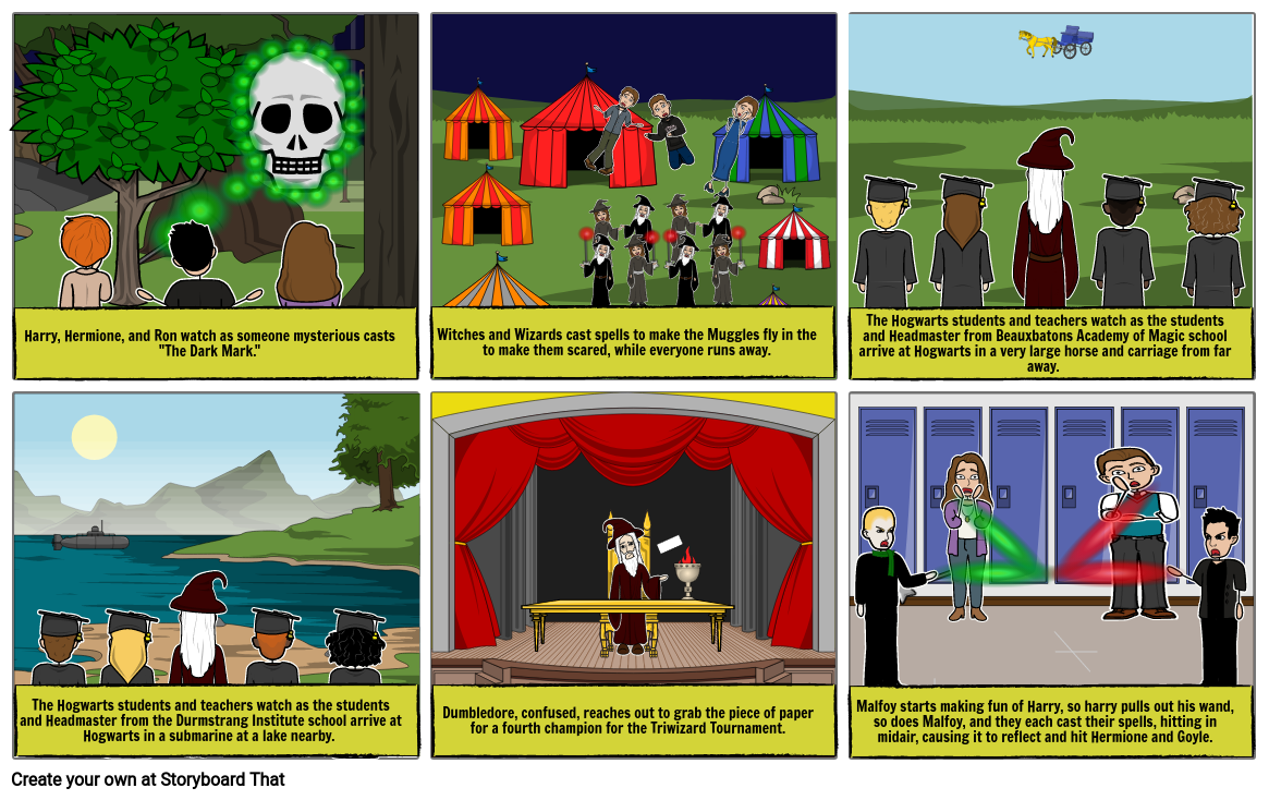 Major Events In Harry Potter Storyboard By Awesomec5161 We now have our three champions. storyboard that