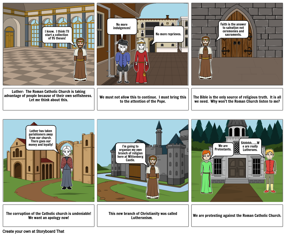 Protestant Reformation Storyboard HOC March 2020