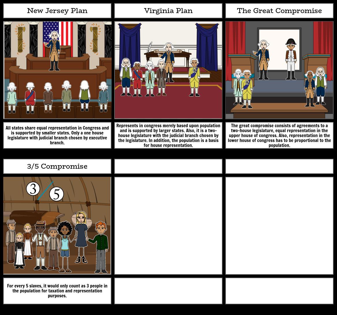 Virginia and NJ Plan Story Board