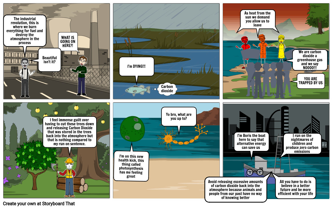 Carbon Cycle Comic-Addison Noe
