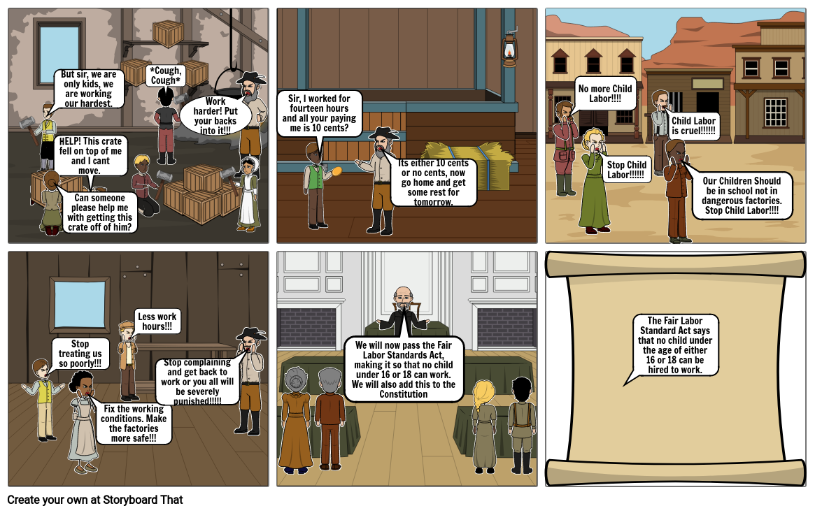 US History Comic (Child Labor)