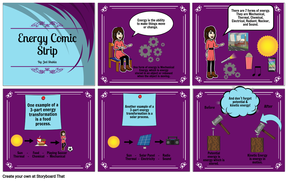 Energy Comic Strip