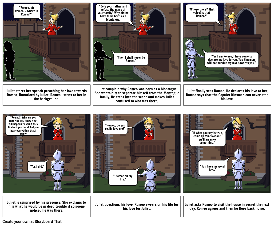 Romeo and Juliet - Storyboard