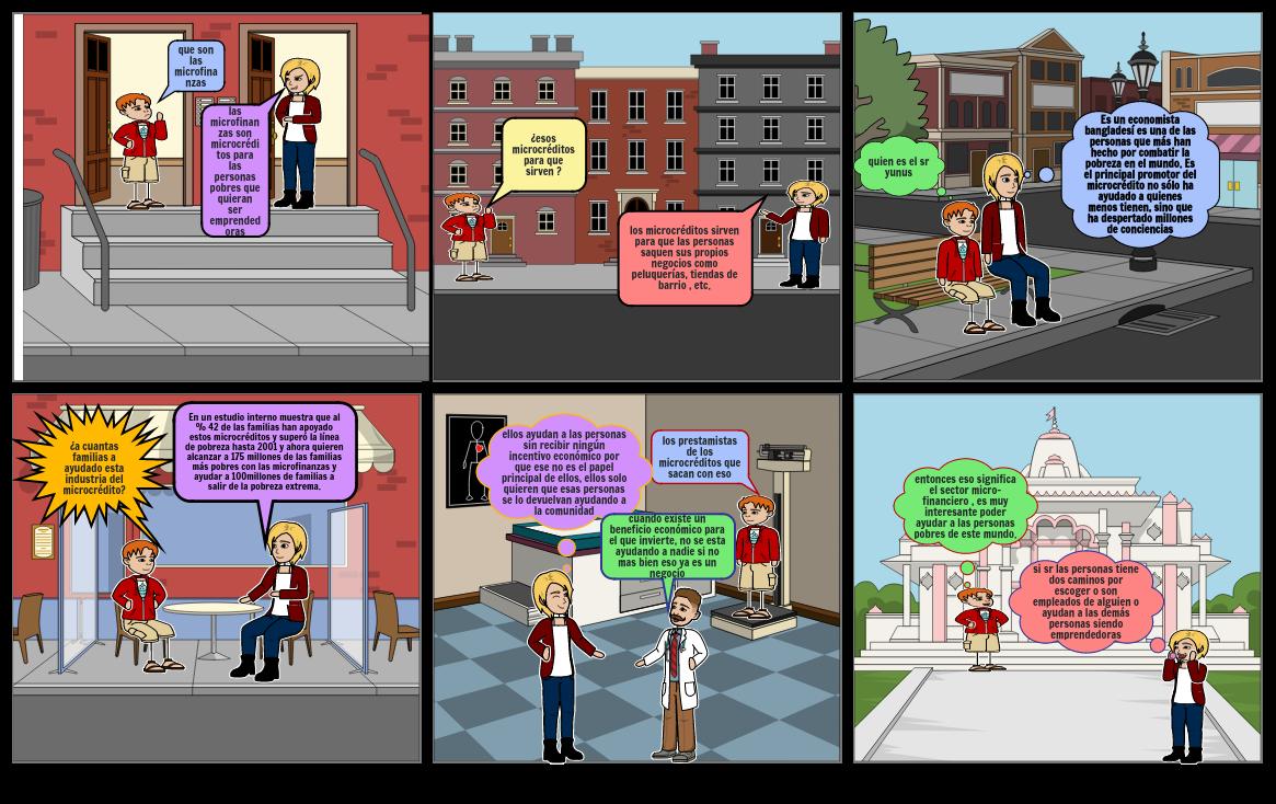historieta de las microfinanzas