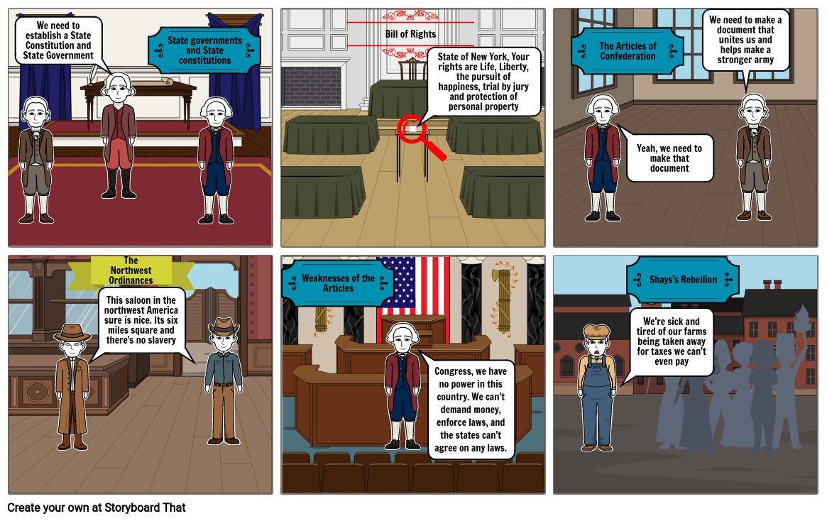Storyboard Articles of Confederation