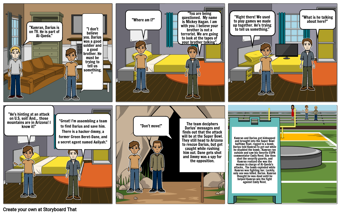 Code of honor storyboard that