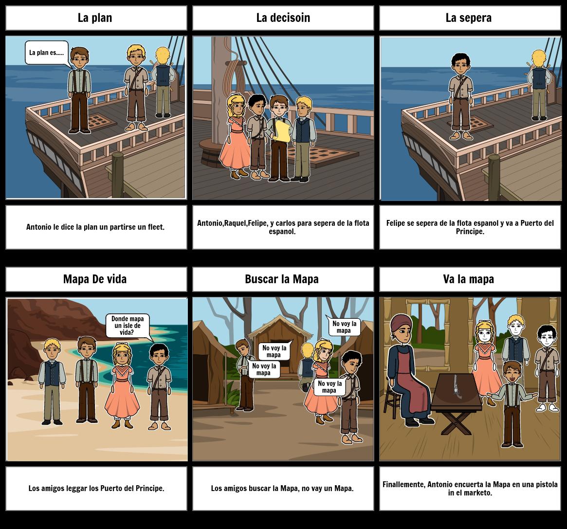 Pirata story board