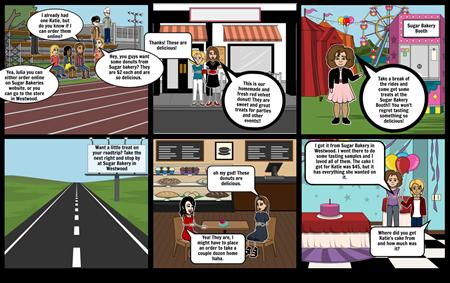 Maddy's Sugar Bakery Storyboard