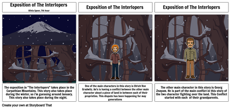 Exposition of the Interlopers- Olivia Speer 7th hour
