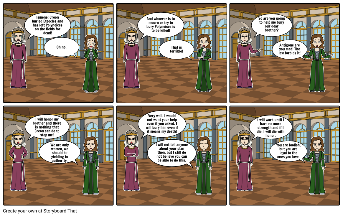 Antigone comic strip