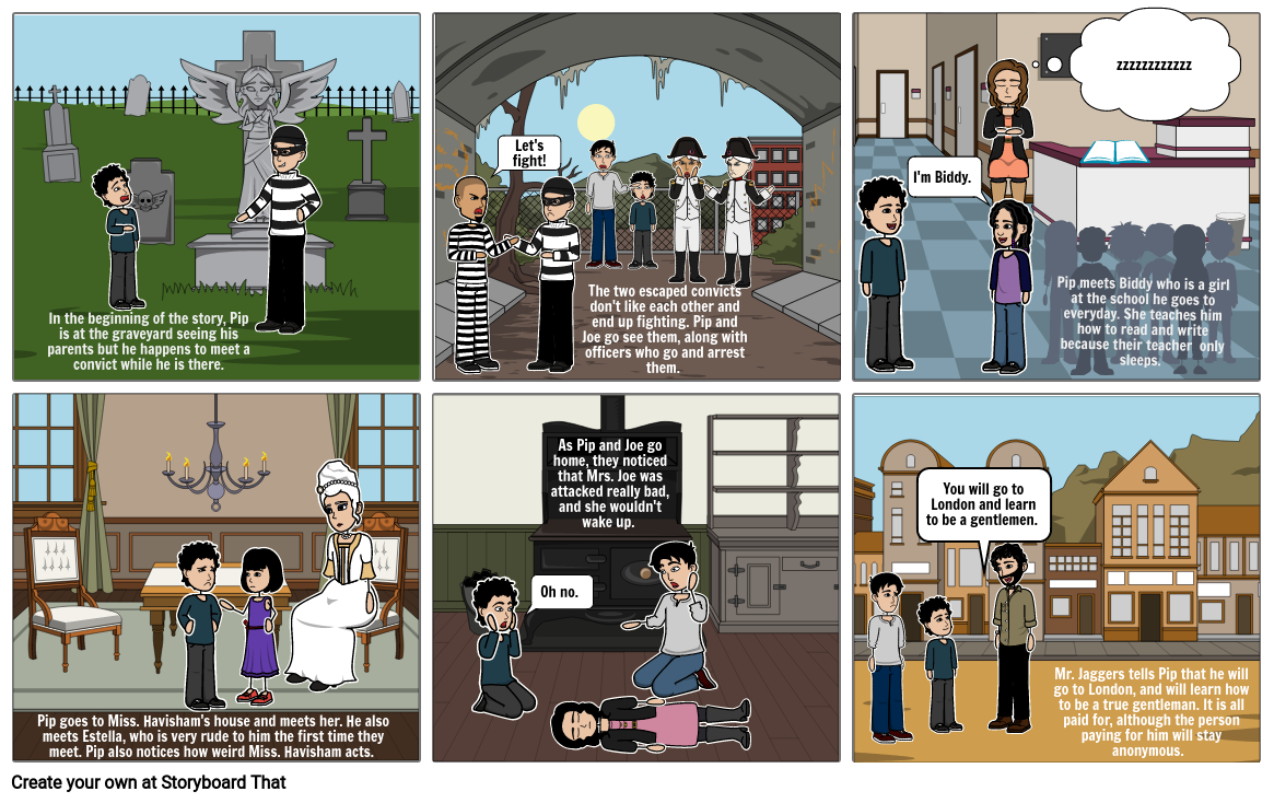 Great Expectations: Story Board