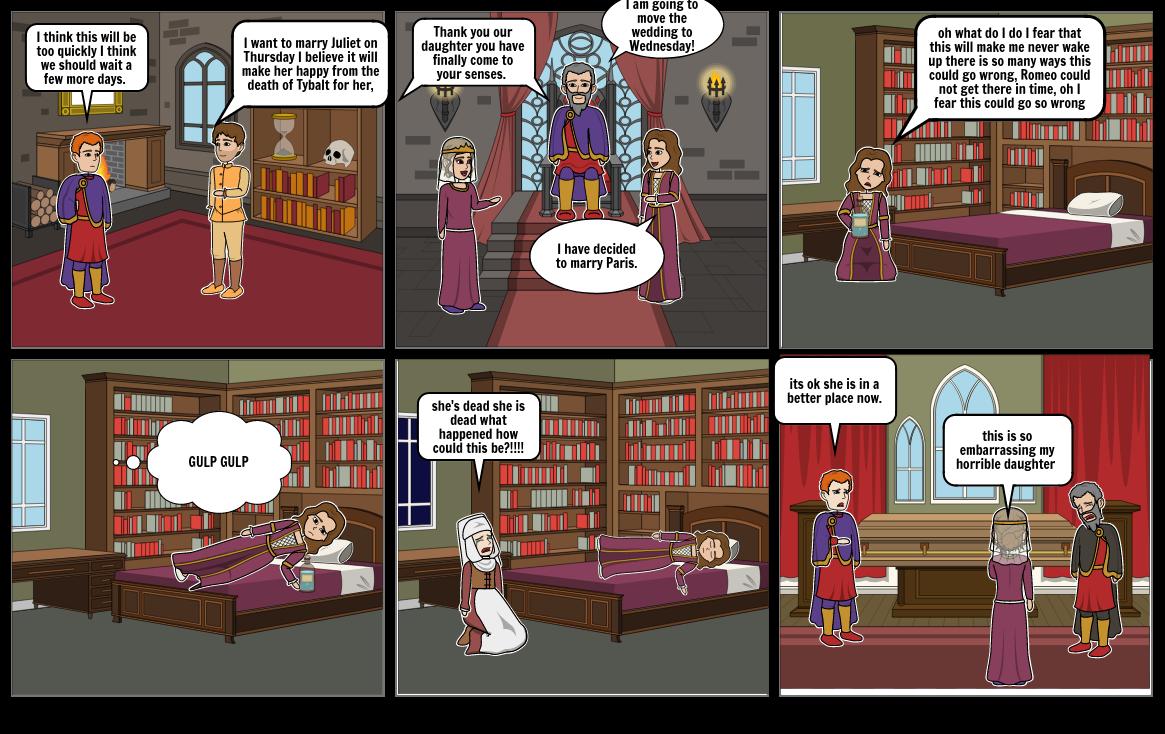 English Romeo and Juliet scene 4.
