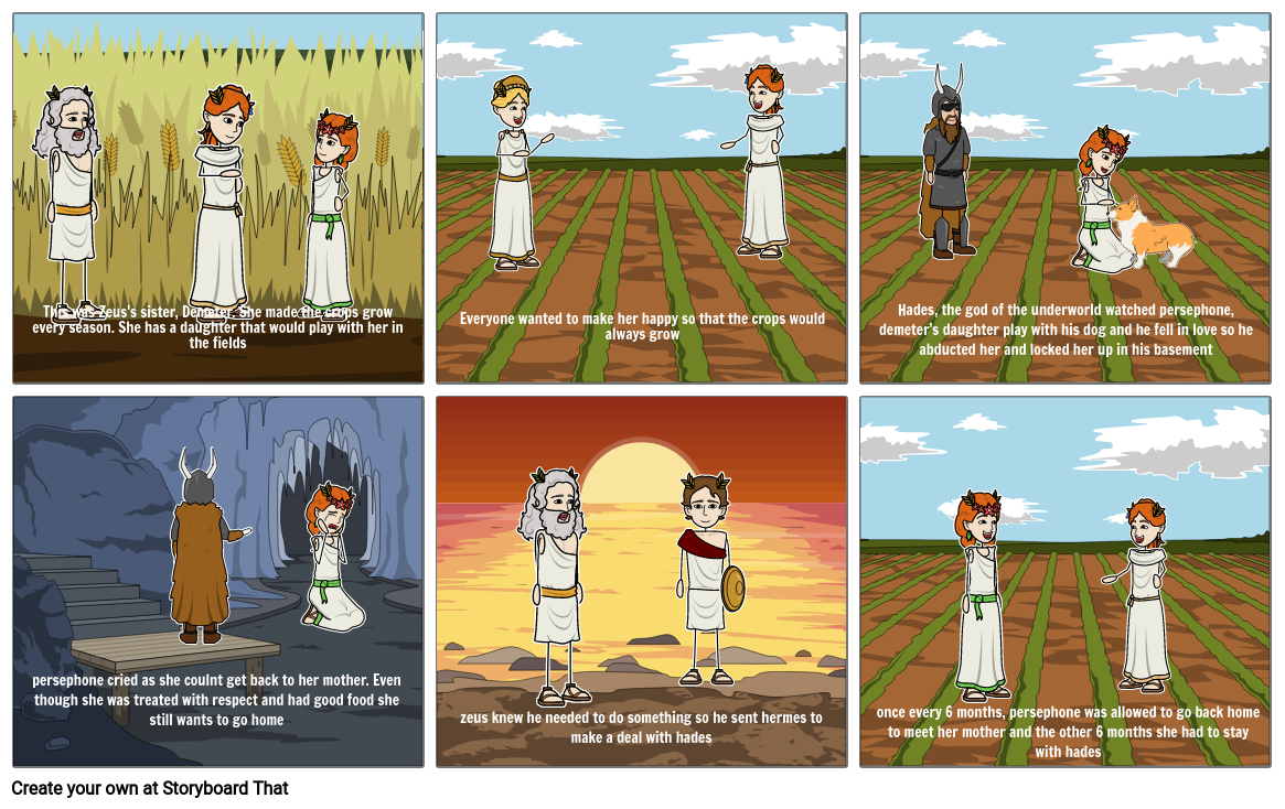 Demeter and persephone Storyboard by b9a95c19