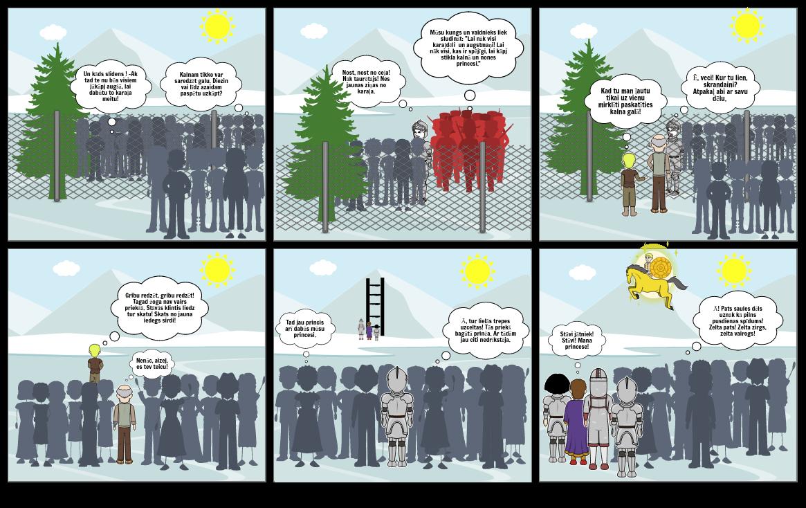 """Lugas """"Zelta zirgs"""" 3. cēliena komikss- Beatrise Radziņa 7.b"""