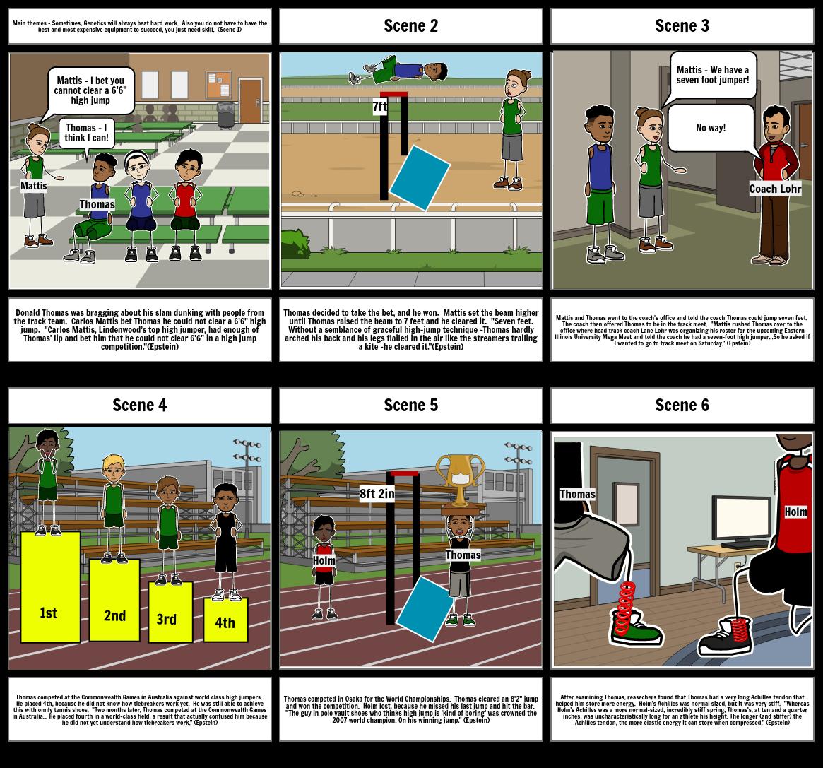 Sports Gene Story Board by Hanh Trosien