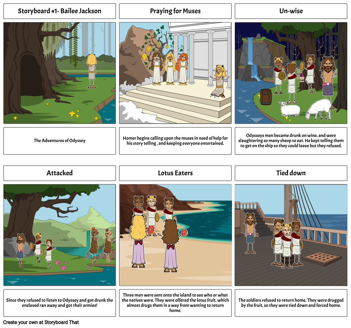 Storyboard #1-The adventures of Odyssey
