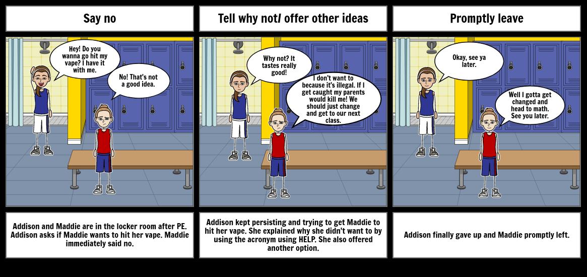 Refusal Comic Strip