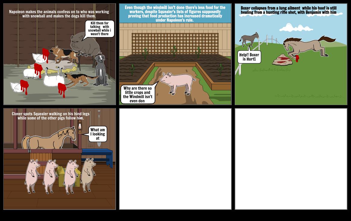 Animal farm storyborad pt 2