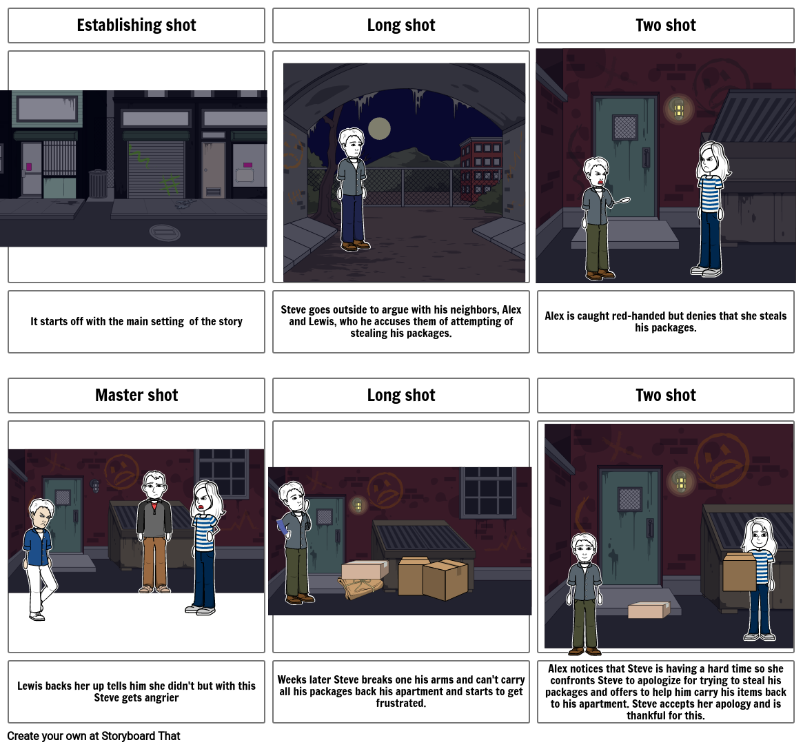 Video Project Storyboard