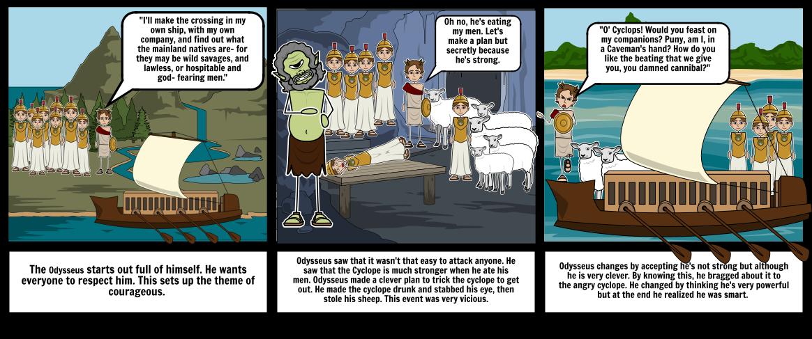 Odysseus Comic Strip