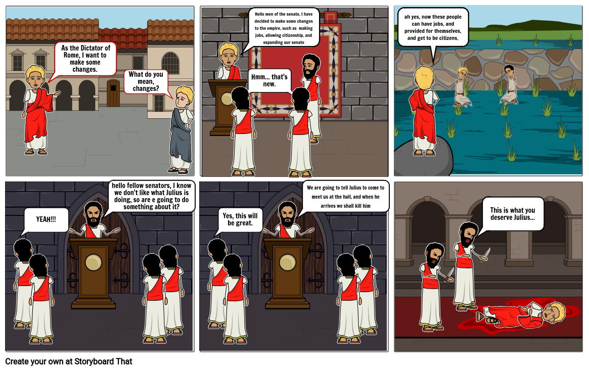 Julius Caesar comic strip