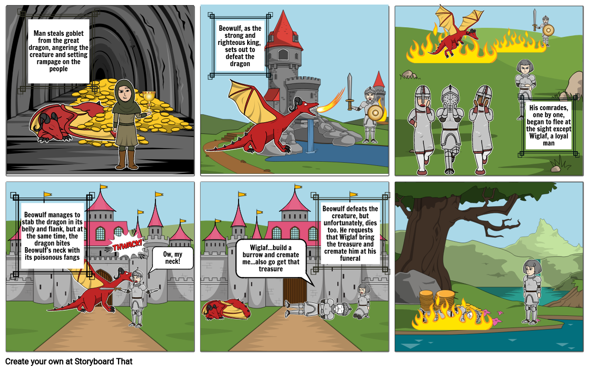 beowulf dragon fight