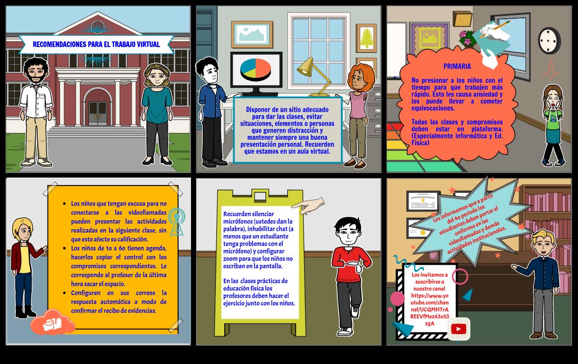 Recomendaciones para el trabajo virtual