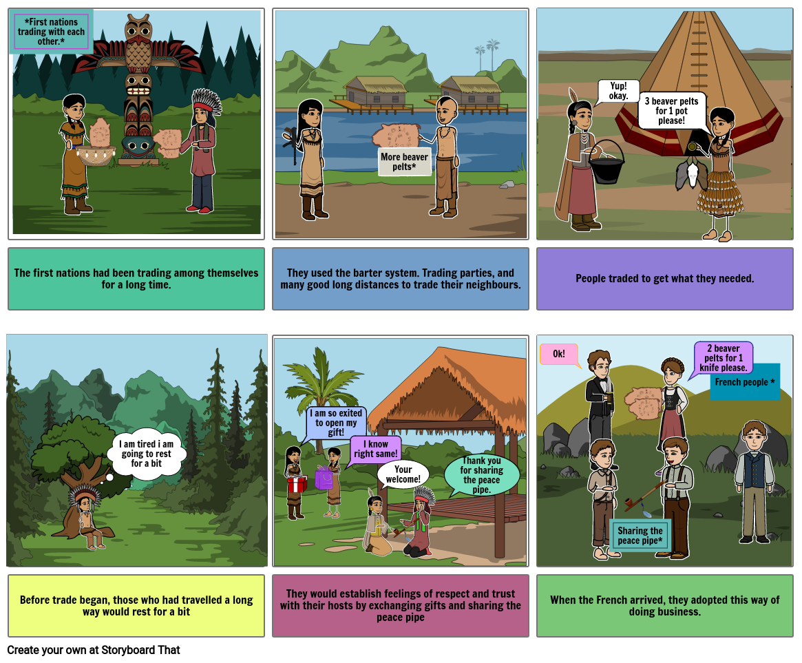 First nations the barter system