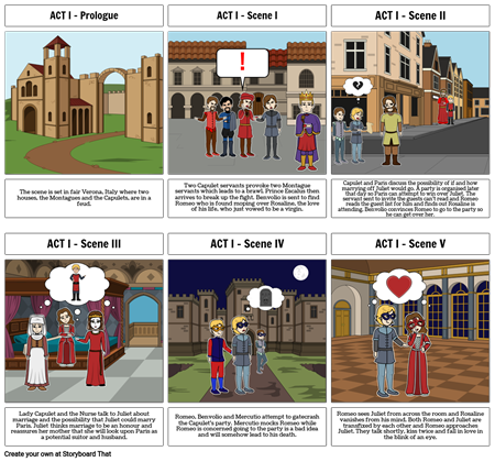 Romeo and Juliet - ACT I Storyboard