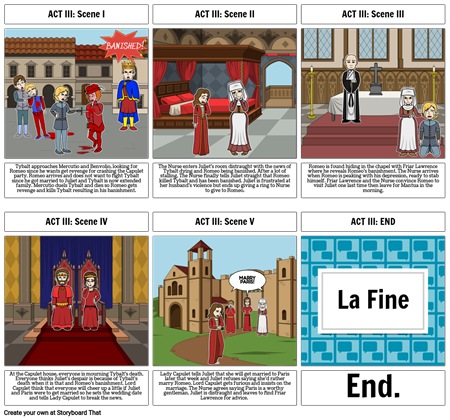 Romeo and Juliet: ACT III Storyboard