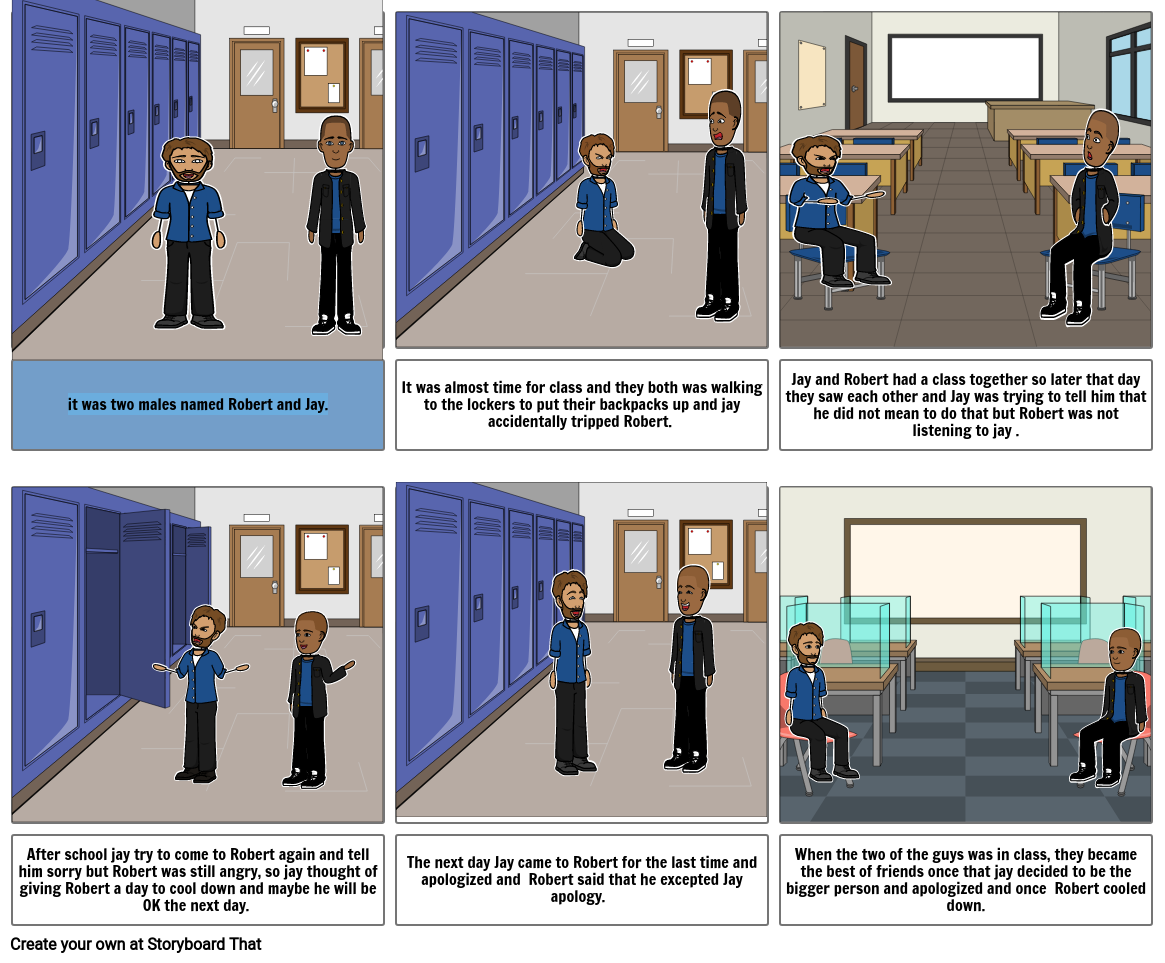 Conflict resolution storyboard