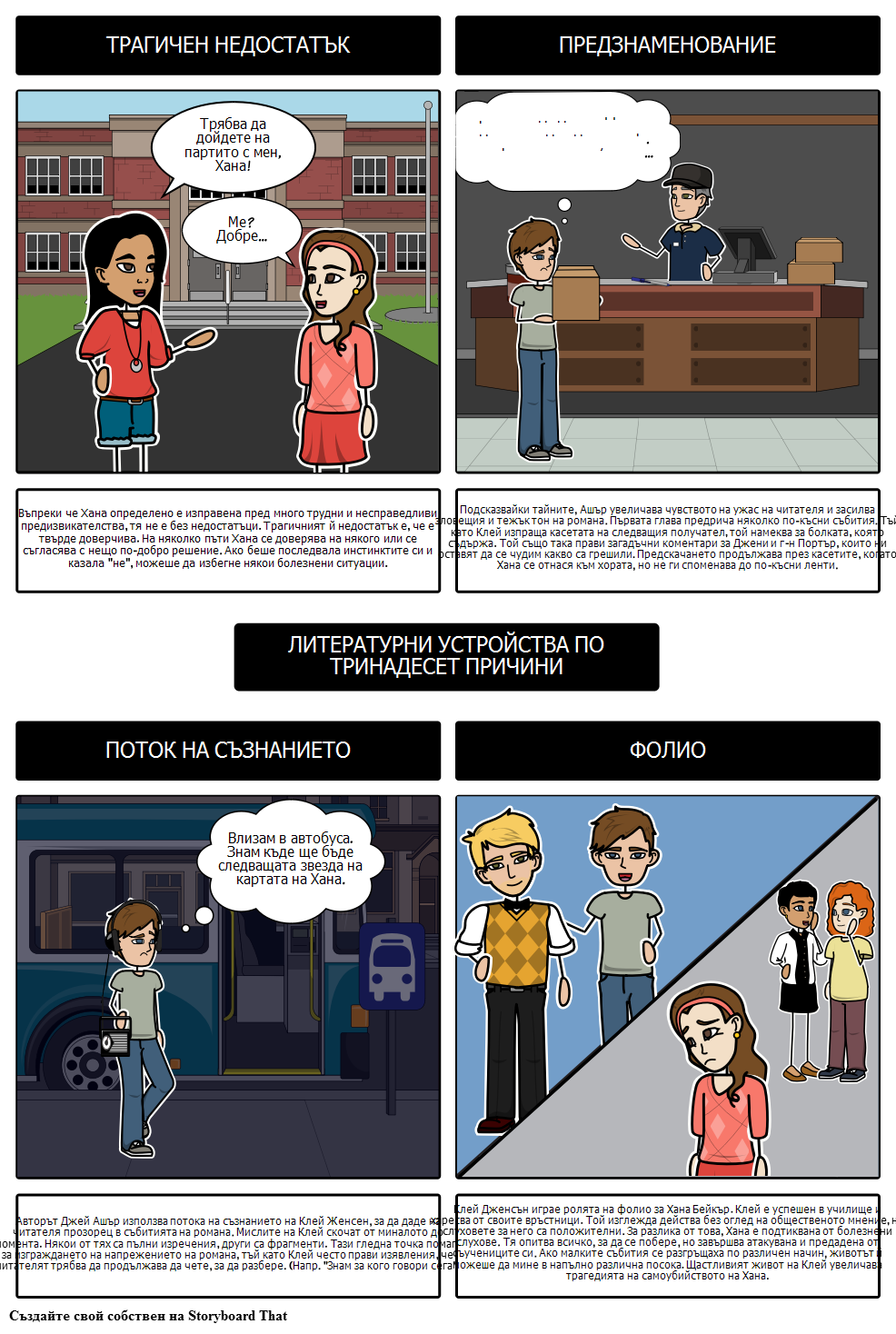 Тринадесет Причини, Поради Които Литературните Устройства