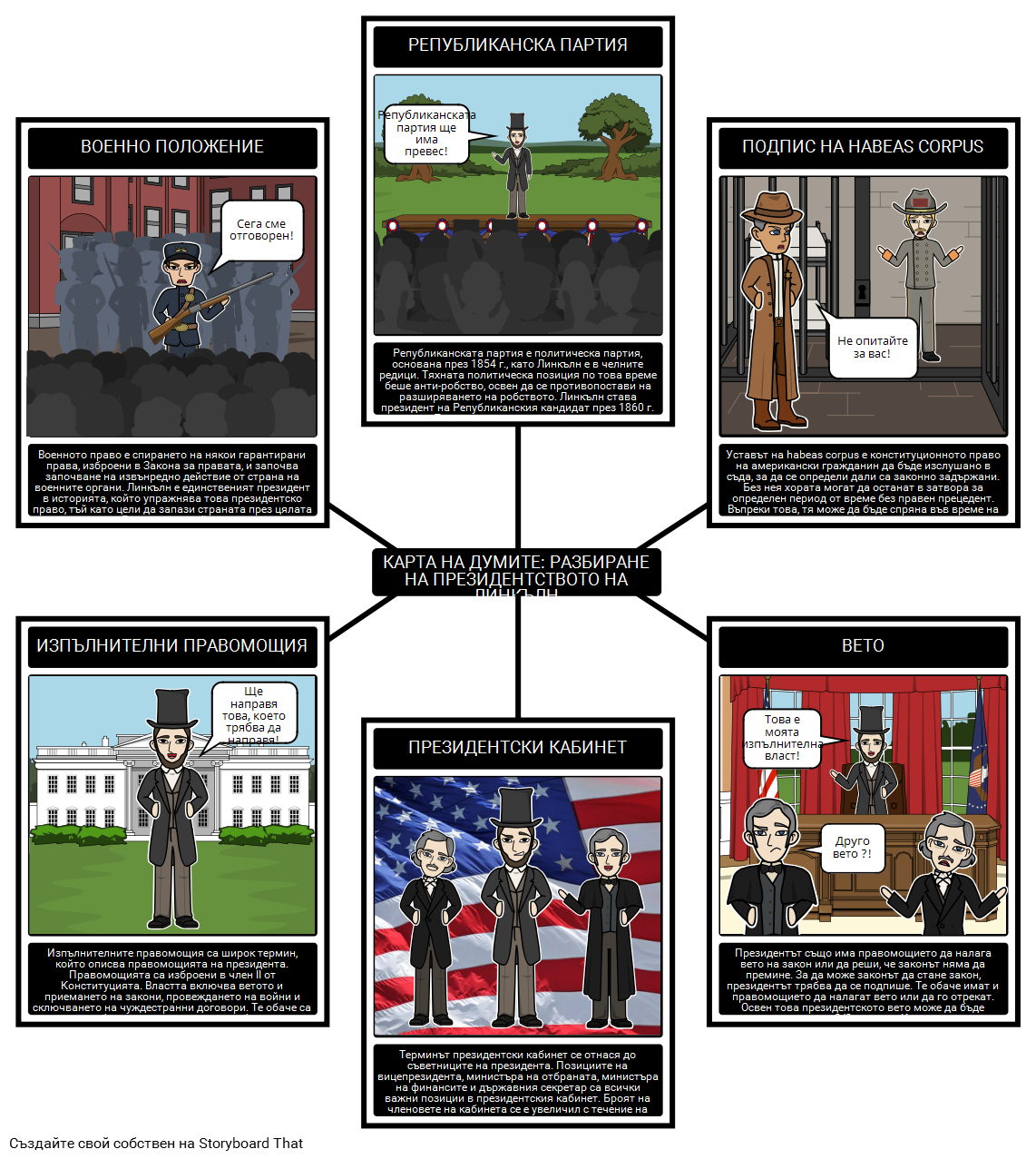 Карта на Думите на Президента на Авраам Линкълн