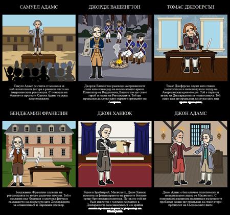 Основни Фигури от Американската Революция