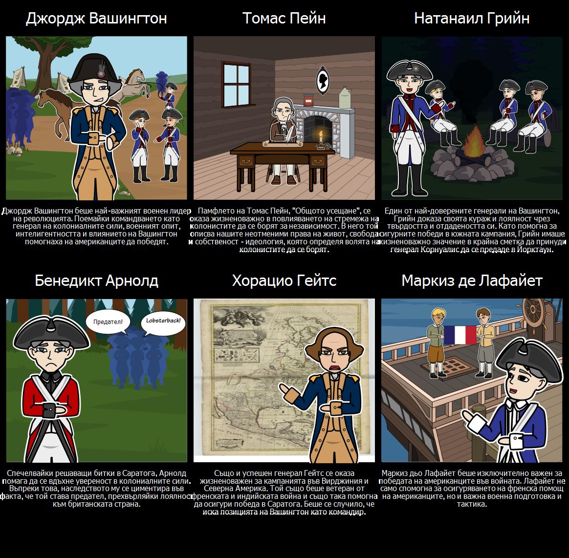 Важни Хора от Американската Революция