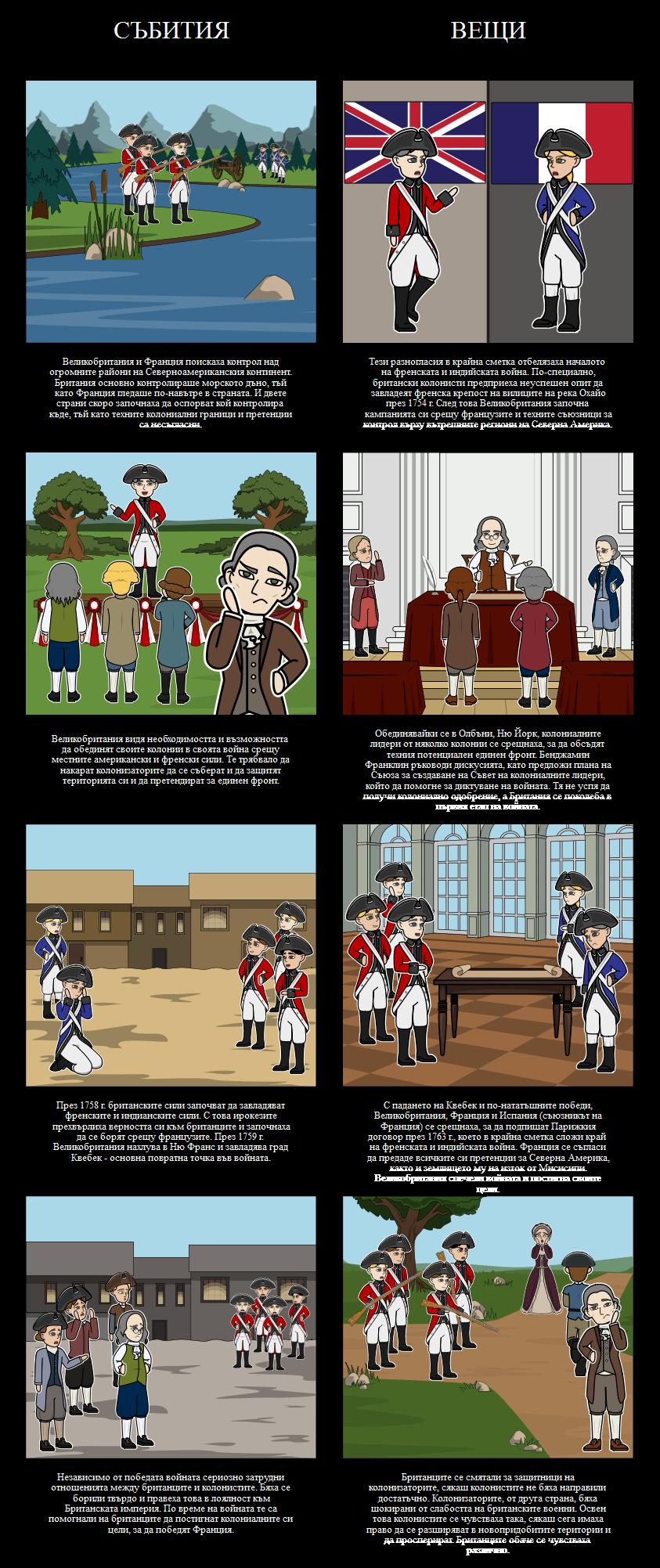 Френската и индийската война, 1754-63