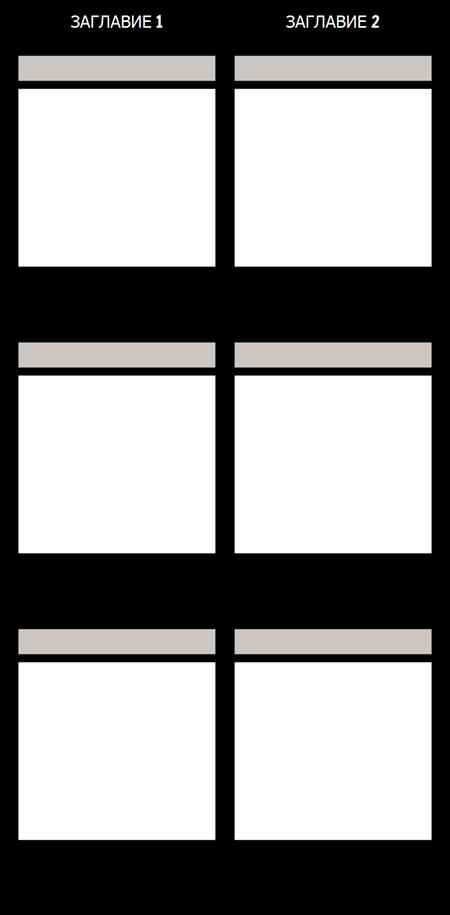 Празна Т-таблица за Сравнение